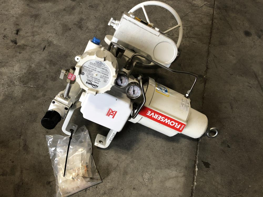 Ameya MOR-1 Gear Operated Assembly W/ Flowserve VR25 Actuator & Westlock Switch