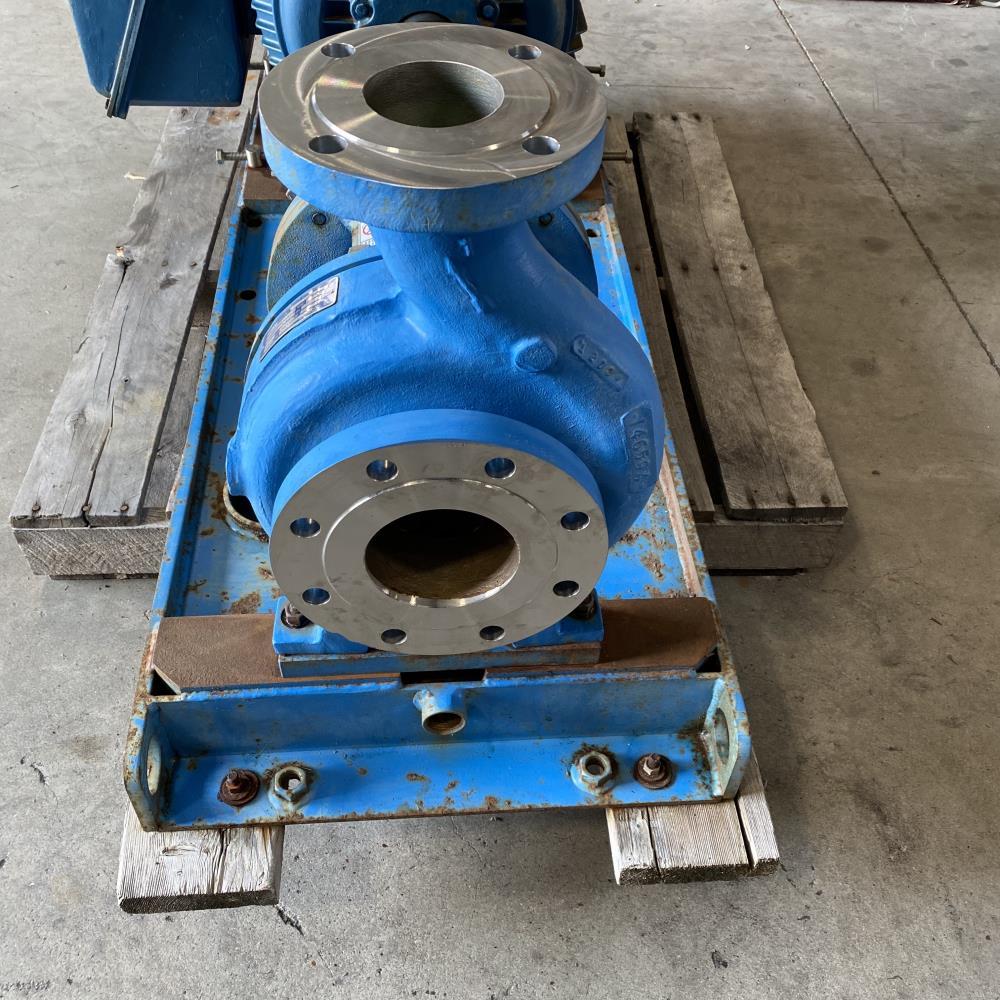 """Goulds 3196 MTX Centrifugal Pump 3""""x4""""-8G, 316 SS w/ 60 HP Motor"""