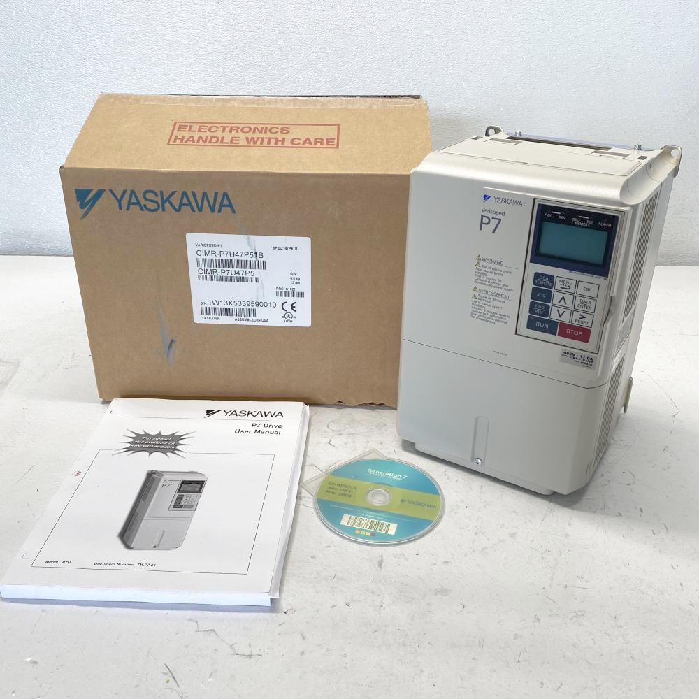 Yaskawa Varispeed P7 AC Drive, CIMR-P7U47P5, 480V, 17.0A