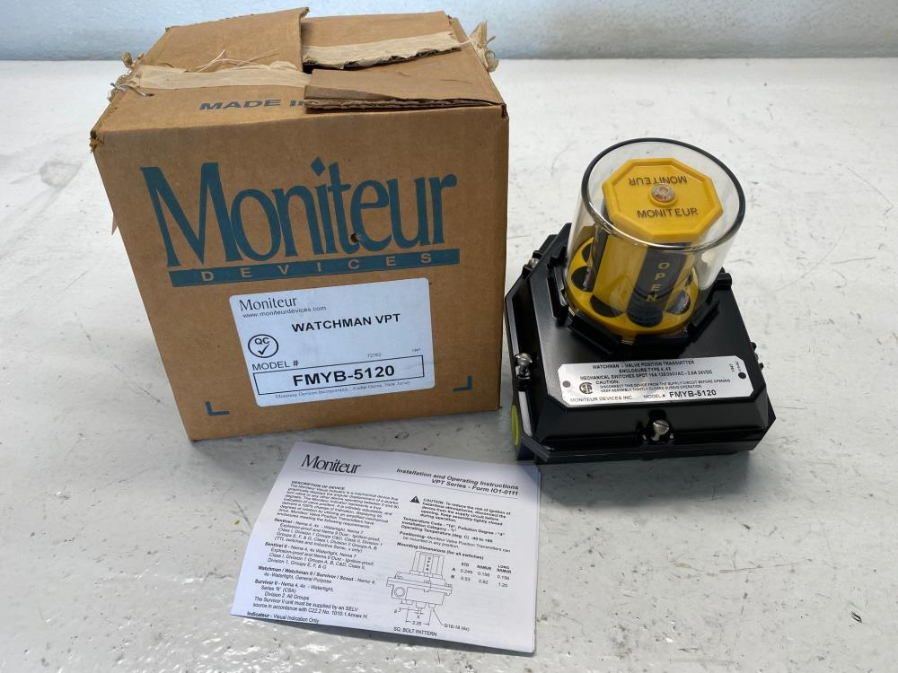 Moniteur Watchman VPT F Series Valve Position Transmitter FMYB-5120