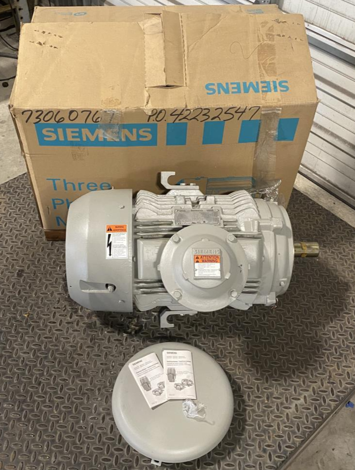 Siemens XP100 Vertical Explosion Proof Motor 1MB21212BC216LG3, 10 HP, 1175 RPM