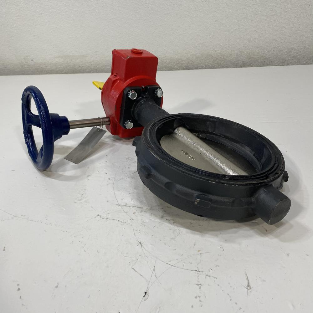 "Nibco 6"" 150# DI Gear Operated Wafer Butterfly Valve WD-3510-4"