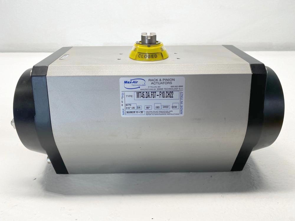 Max-Air Rack & Pinion Actuator, Double-Acting, MT46.DA.F07-F10.CH22