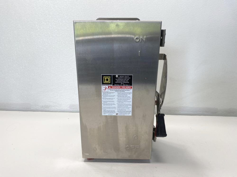 Square D 60A Heavy Duty Non-Fusible Single Throw Safety Switch HU362DSEI2, 60HP