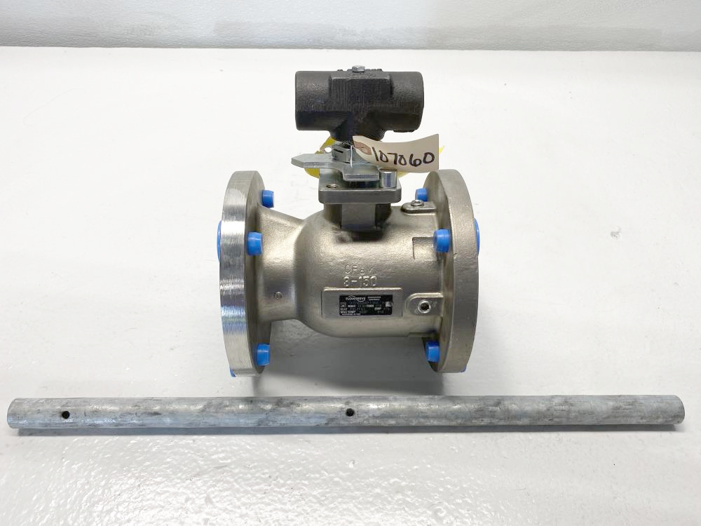 """Flowserve Worcester 3"""" 150# RF CF8M Lever Operated Ball Valve, 3 516666PT150 R6"""