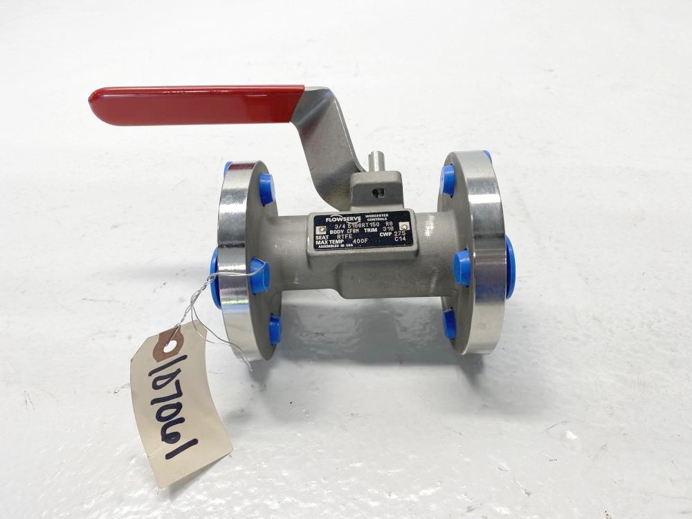 "Flowserve Worcester 3/4"" 150# CF8M Lever Operated Ball Valve 3/4 5166RT150 R6"