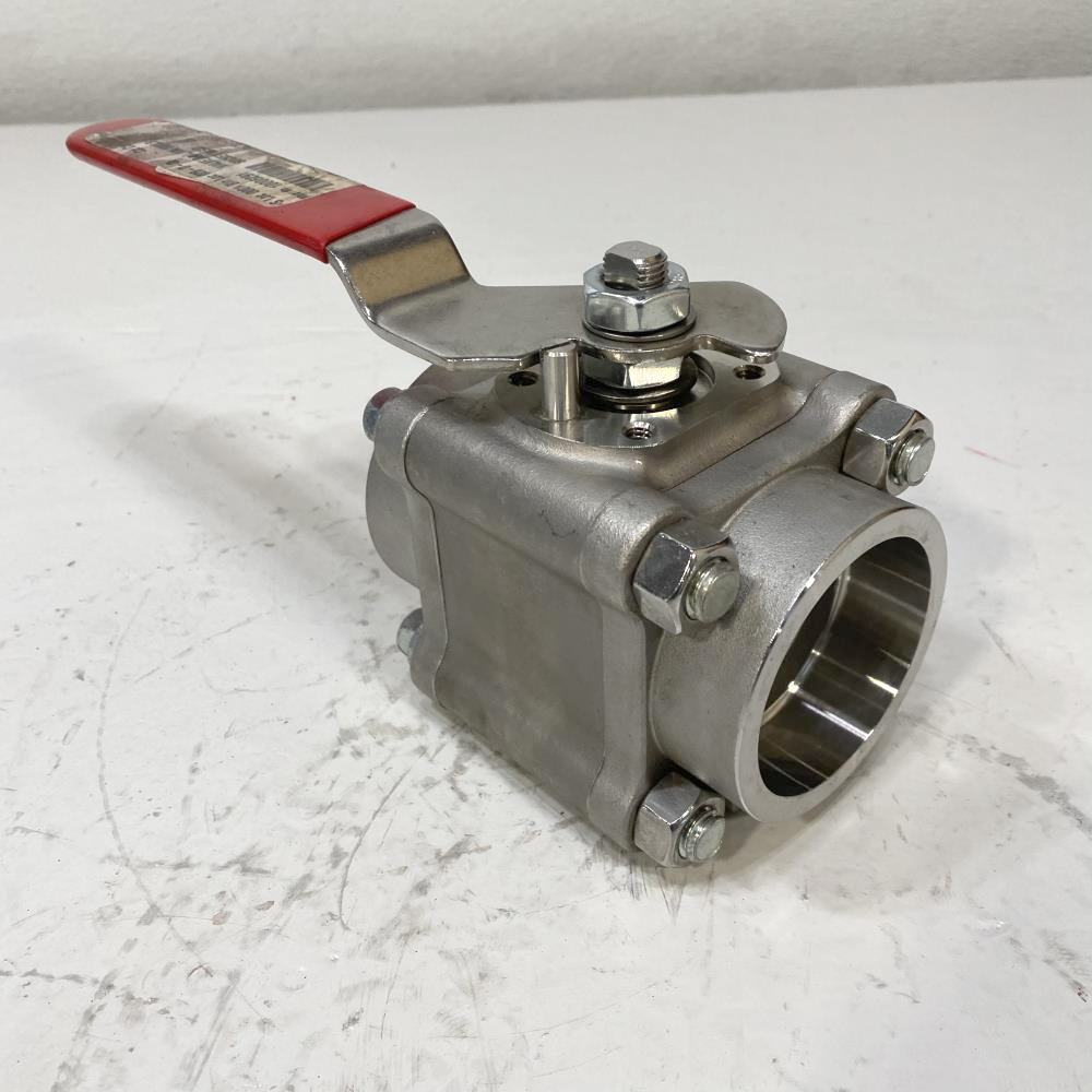 """Flowserve Worcester 2"""" Stainless Steel Socketweld Ball Valve 2 4466TSW R2"""