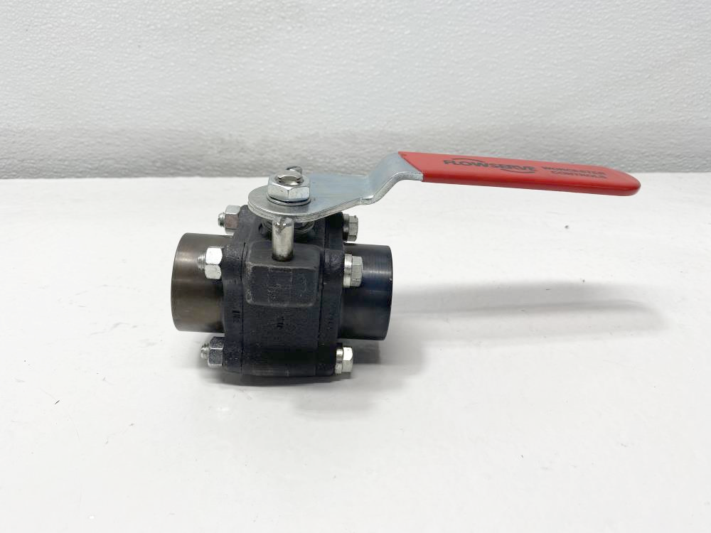 "Flowserve Worcester 1"" Threaded A105 Ball Valve 1 4446RTSE R2"