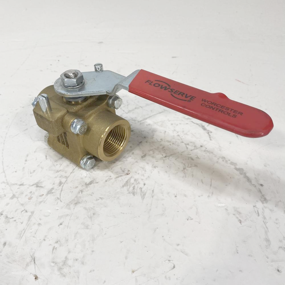 "Worcester 1"" Threaded Brass Ball Valve 1 4416TSE R2"