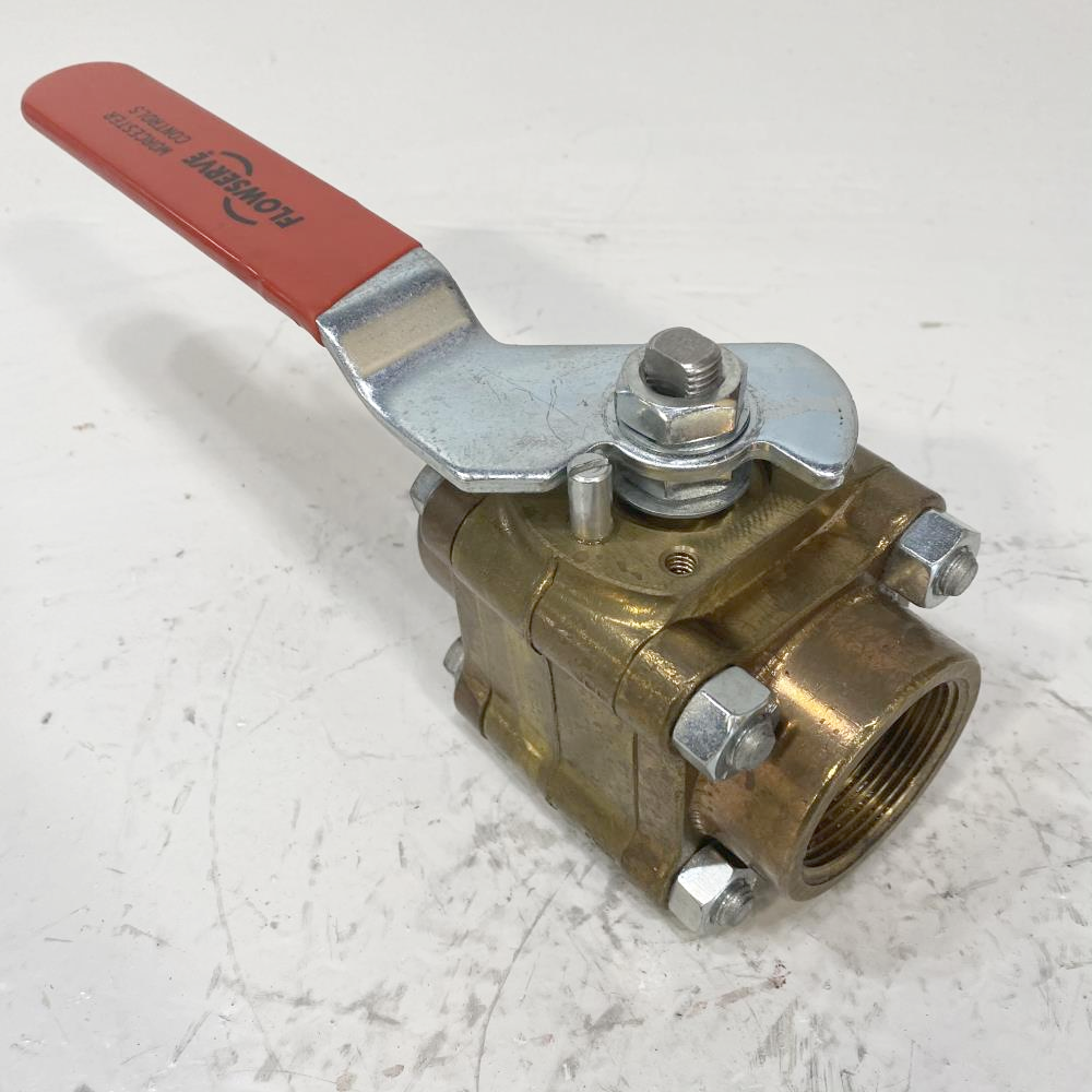 "Worcester 1-1/2"" Threaded Brass Ball Valve 11/2 4416RTSE R2"
