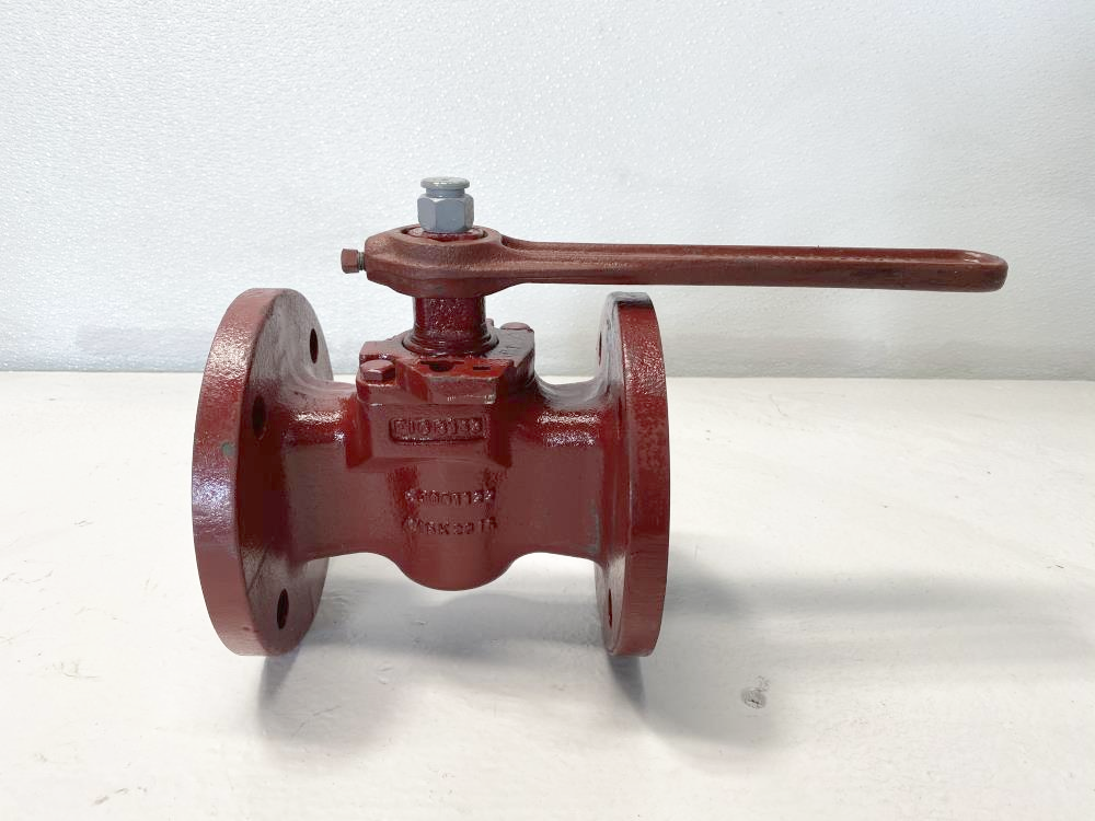 "Flowserve 2-1/2"" Cast Iron Plug Valve W/ Handle, B143"