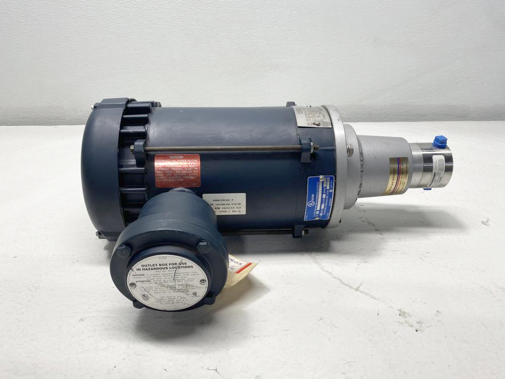 MicroPump Stainless Magnetic Drive Gear Pump GC-M25.PDS.E-N3, Leeson 1/2HP Motor