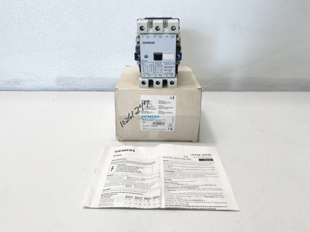 Siemens 80A, 600V Contactor Starter Relay 3TF46 11-0AK6