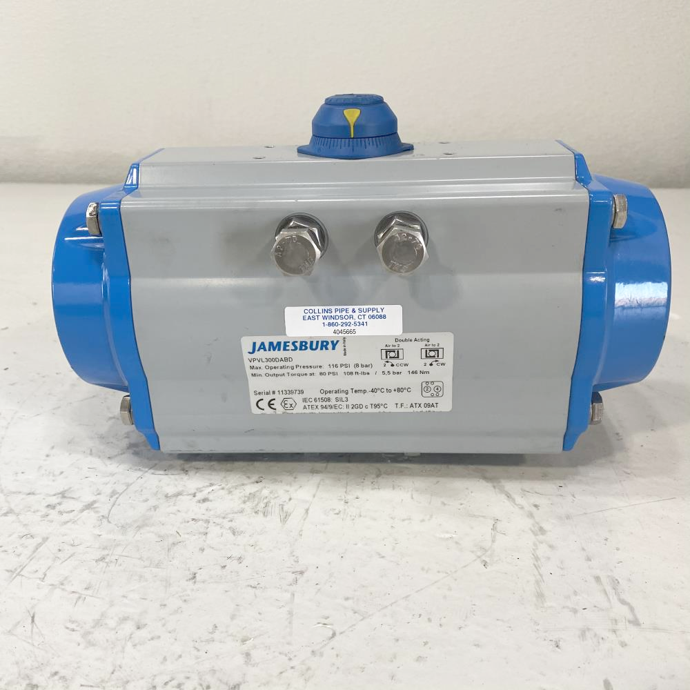 Jamesbury Size 300 Rack and Pinion Double-Acting Actuator VPVL300DABD