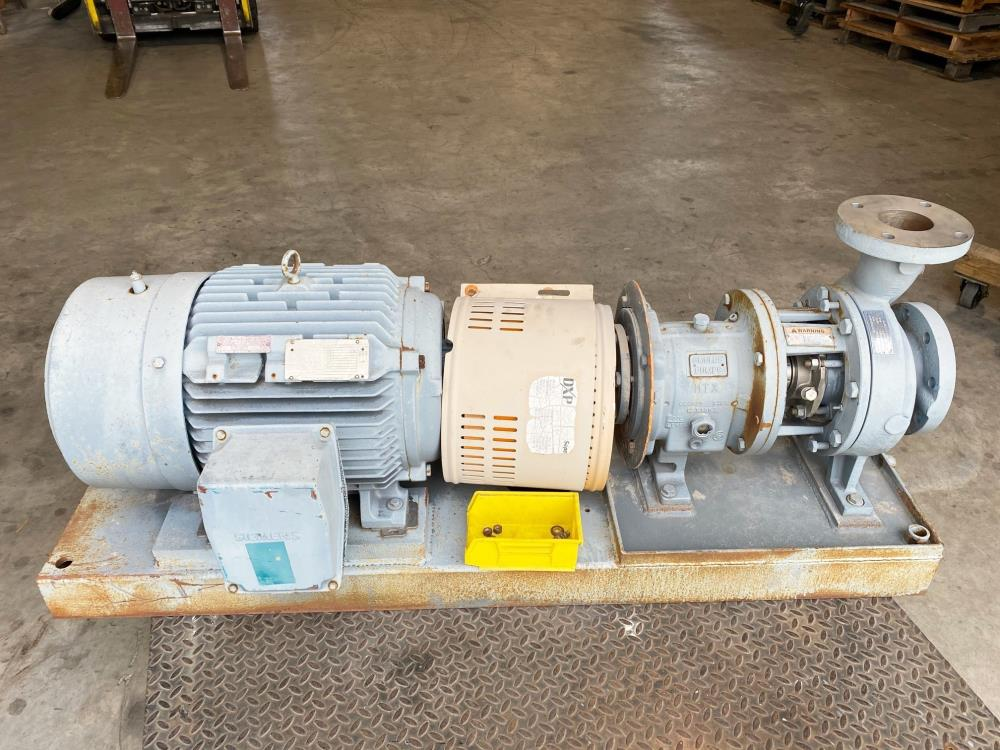 "Goulds 3196 MTX Centrifugal Pump, 3""x4""-7"", 316 SS w/ 30 HP Motor"