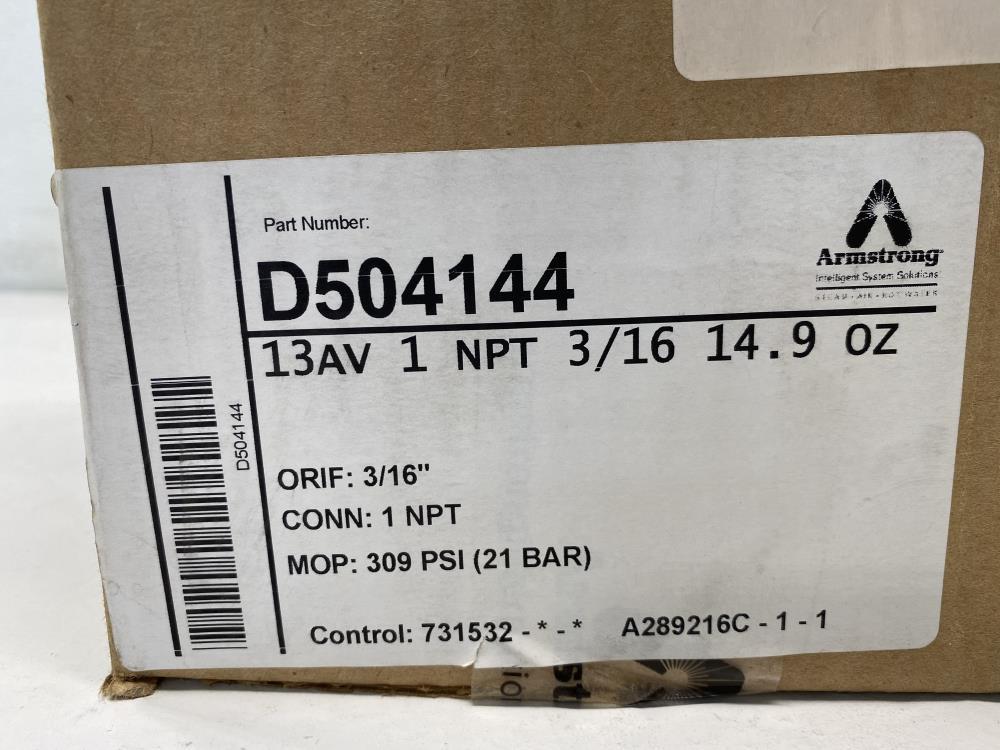 "Armstrong 13AV 1"" NPT Free Floating Lever Air Vent D504144"