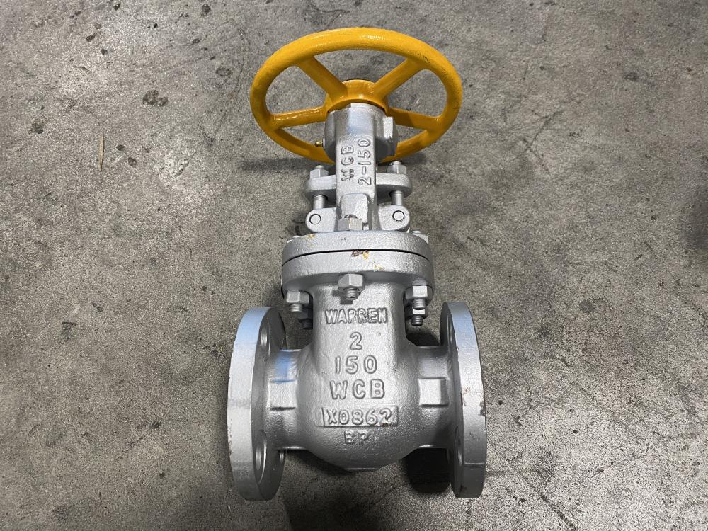"Warren 2"" 150# WCB and 316 Stainless Steel RF Gate Valve 1155-12N F"