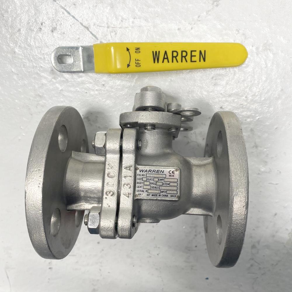 """Warren 3/4"""" 150# CF8M RFFP Ball Valve 6156FS"""