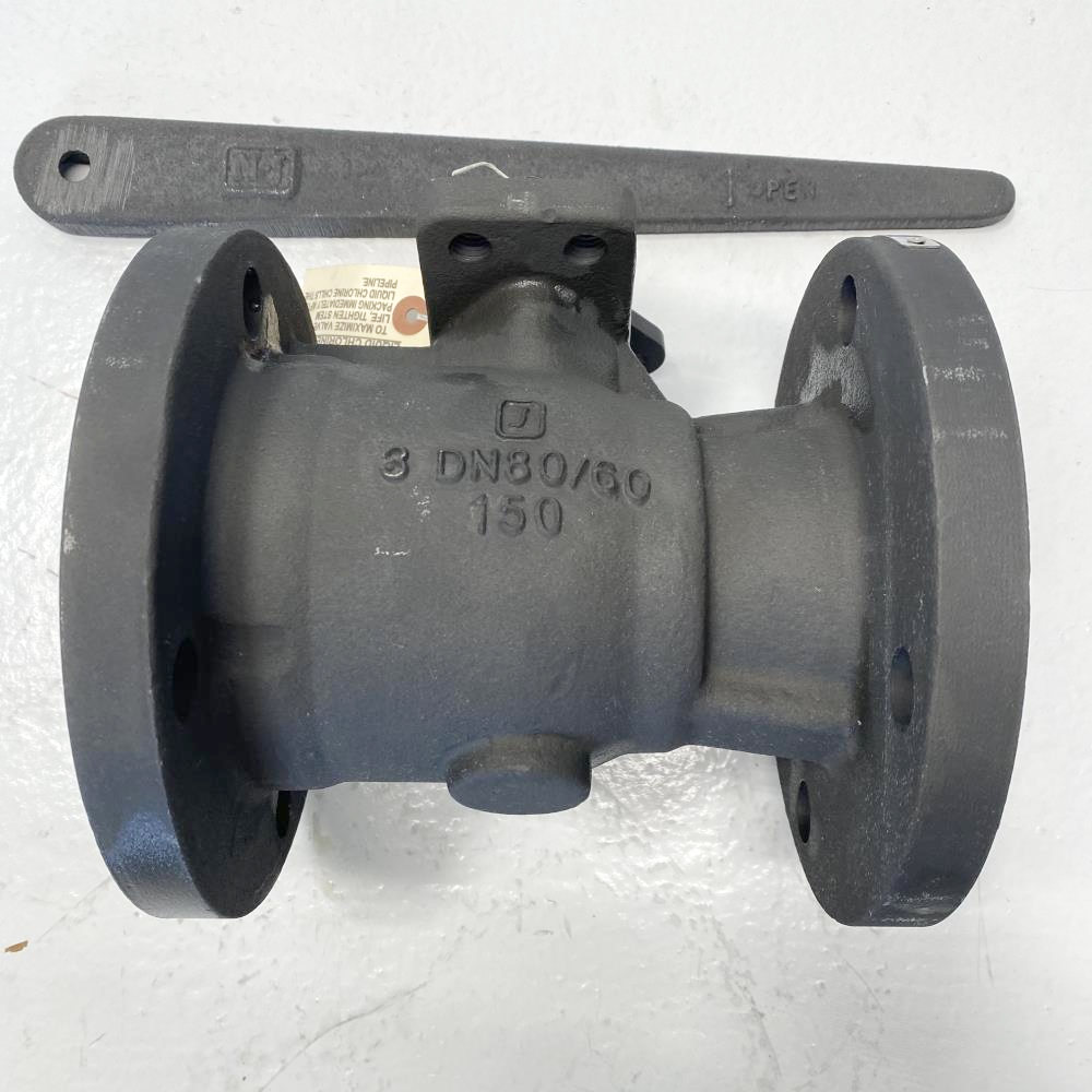 "Jamesbury 3"" 150# Carbon Steel Chlorine Service Ball Valve 3"" 7150312271XTZ1FB"