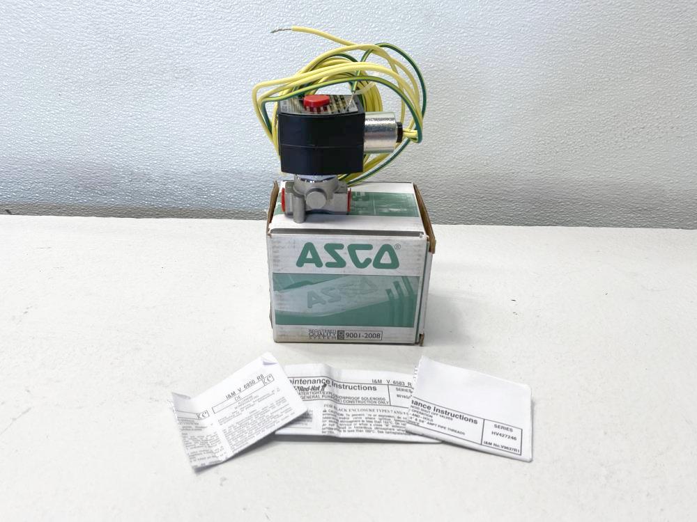 """ASCO Red-Hat 1/4"""" NPT 2-Way 24V Solenoid Valve EFHT8016H1, HV427246002"""