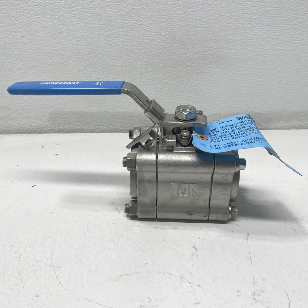 "Jamesbury 2"" Socketweld CF8M Top Grounded Ball Valve 2"" 4CFTG3600XTB2"