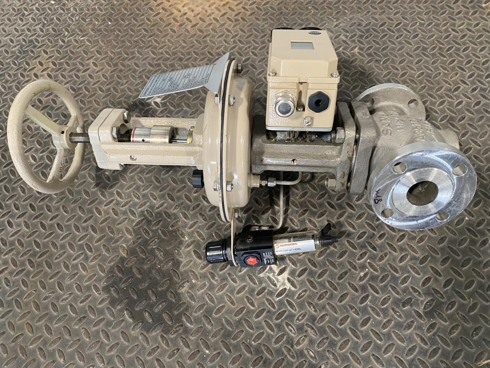 """Samson 1-1/2"""" 150# CF8M Actuated Globe Control Valve 241-1 w/ 3730-4 Positioner"""