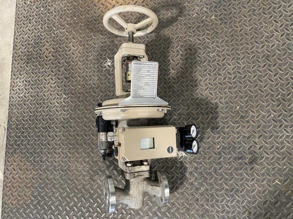 "Samson 1"" 150# CF8 Actuated Globe Control Valve 241-1 w/ 3730-4 Positioner"
