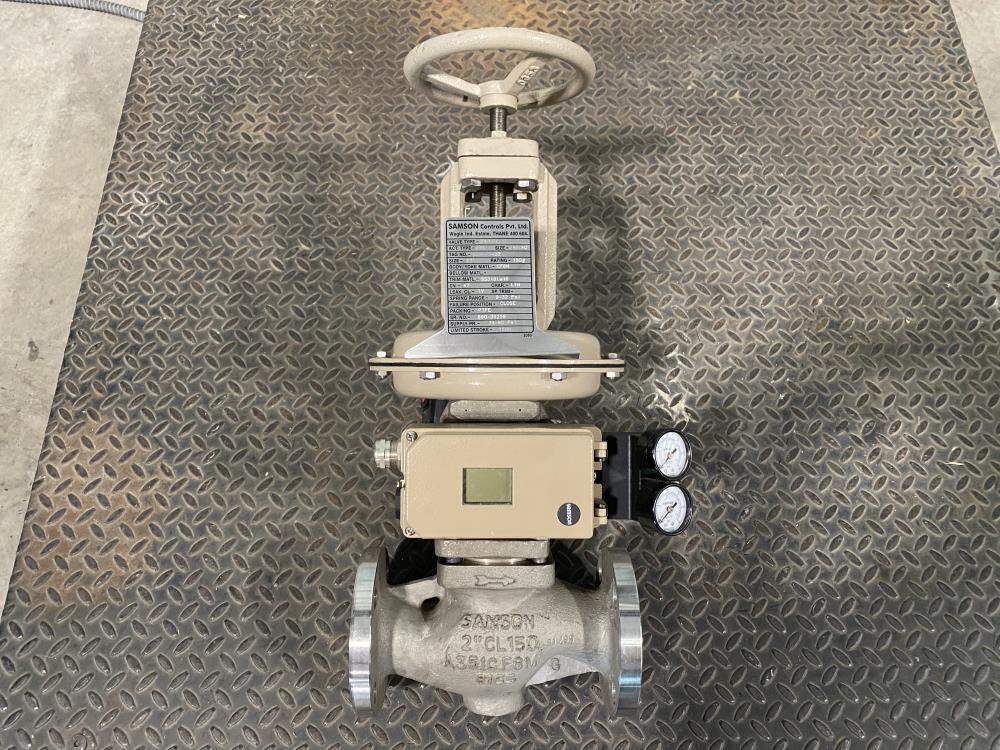 """Samson 2"""" 150# CF8M Actuated Globe Control Valve 241-1 w/ Positioner 3730-4"""