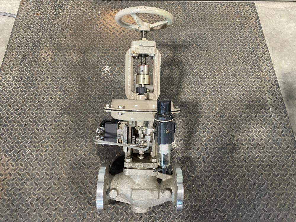 """Samson 2"""" 150# CF8M Actuated Globe Control Valve 241-1 w/ 3730-4 Positioner"""