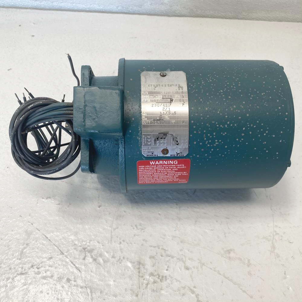 Limitorque Energy Efficient Electric Motor A78Q1431N-XR, .33 HP, 1700 RPM