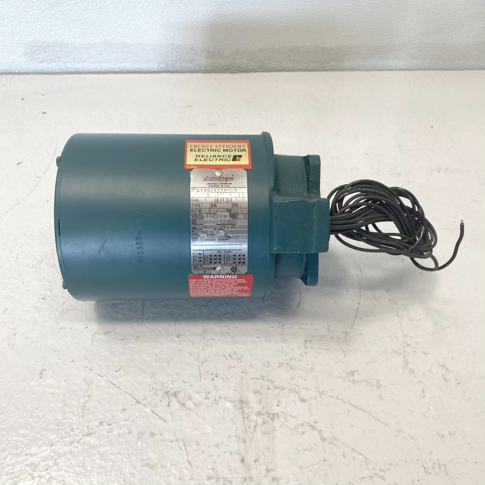 Limitorque Energy Efficient Electric Motor A78Q1431N-ZR, .33 HP, 1700 RPM