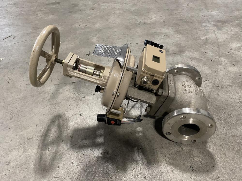 """Samson 3"""" 150# CF8M Actuated Globe Valve 241-1 w/ Profibus Positioner 3730-4"""
