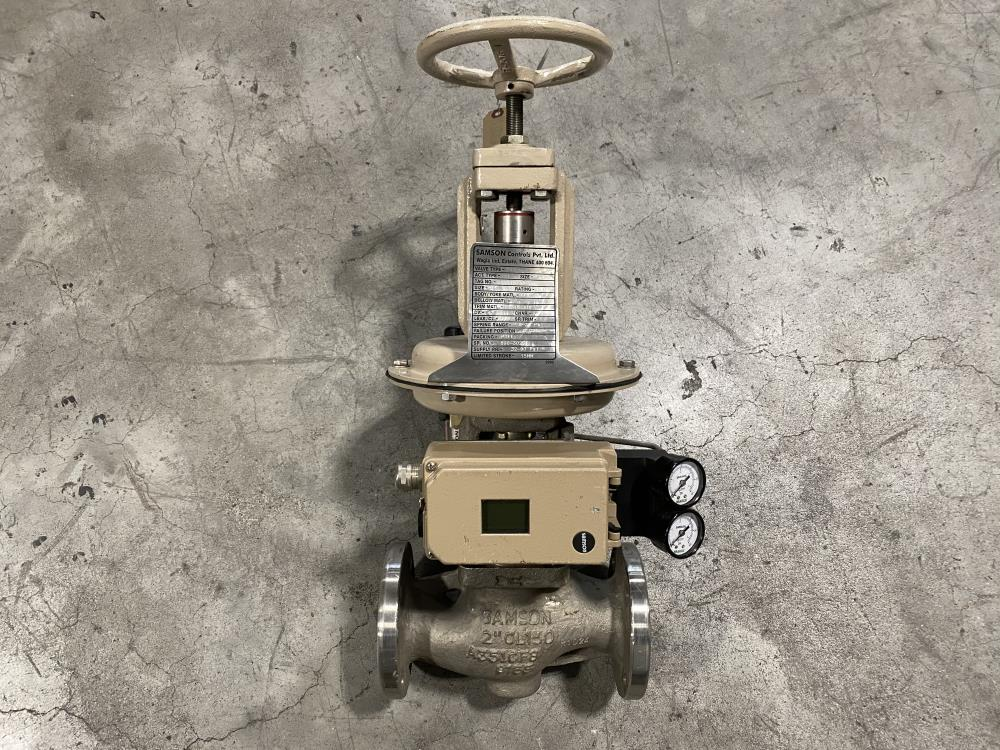 "Samson 2"" 150# CF8 Actuated Globe Valve 241-1 with 3730-4 Positioner"
