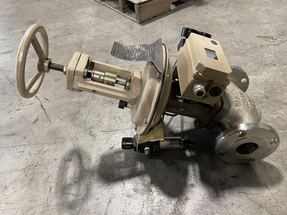 """Samson 2"""" 150# CF8 Actuated Globe Valve 241-1 with 3730-4 Positioner"""