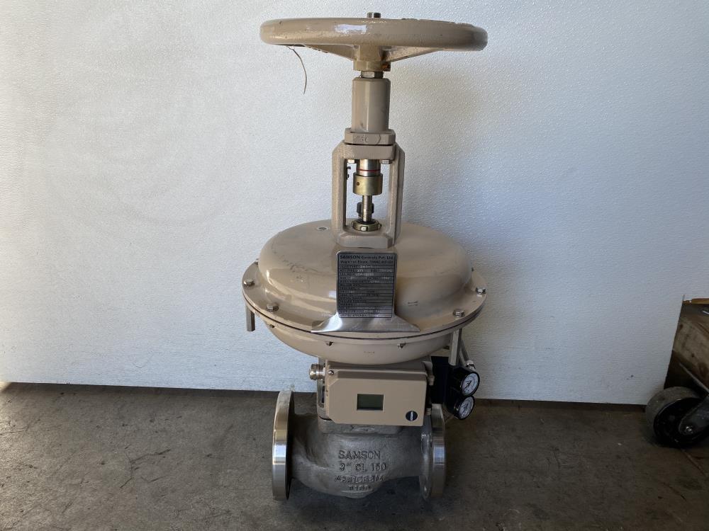 """Samson 3"""" 150# CF8M Actuated Globe Valve 241-1 & 3730-4 Profibus Positioner"""