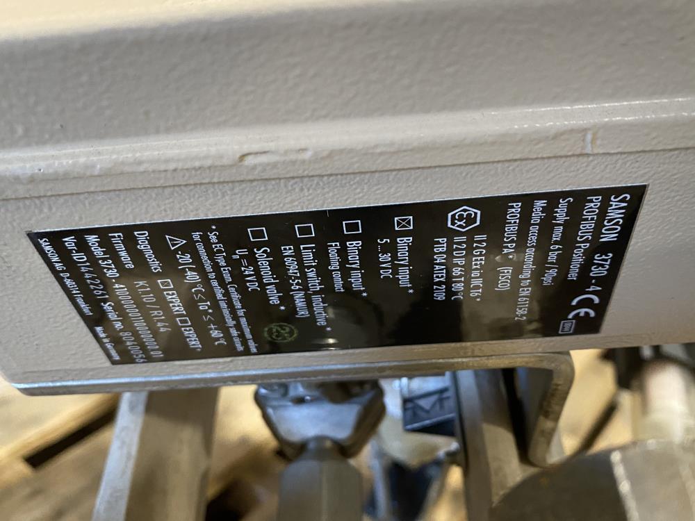 "Samson 6"" 150# WCC Actuated Globe Control Valve 241-1 w/ 3730-4 Positioner"