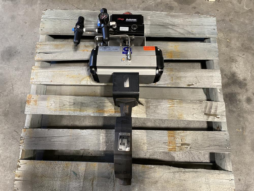 """Crane Flowseal 6"""" 150# WCB Actuated Butterfly Valve, SS Disc 06-1WA-12DTTG-HOJ"""