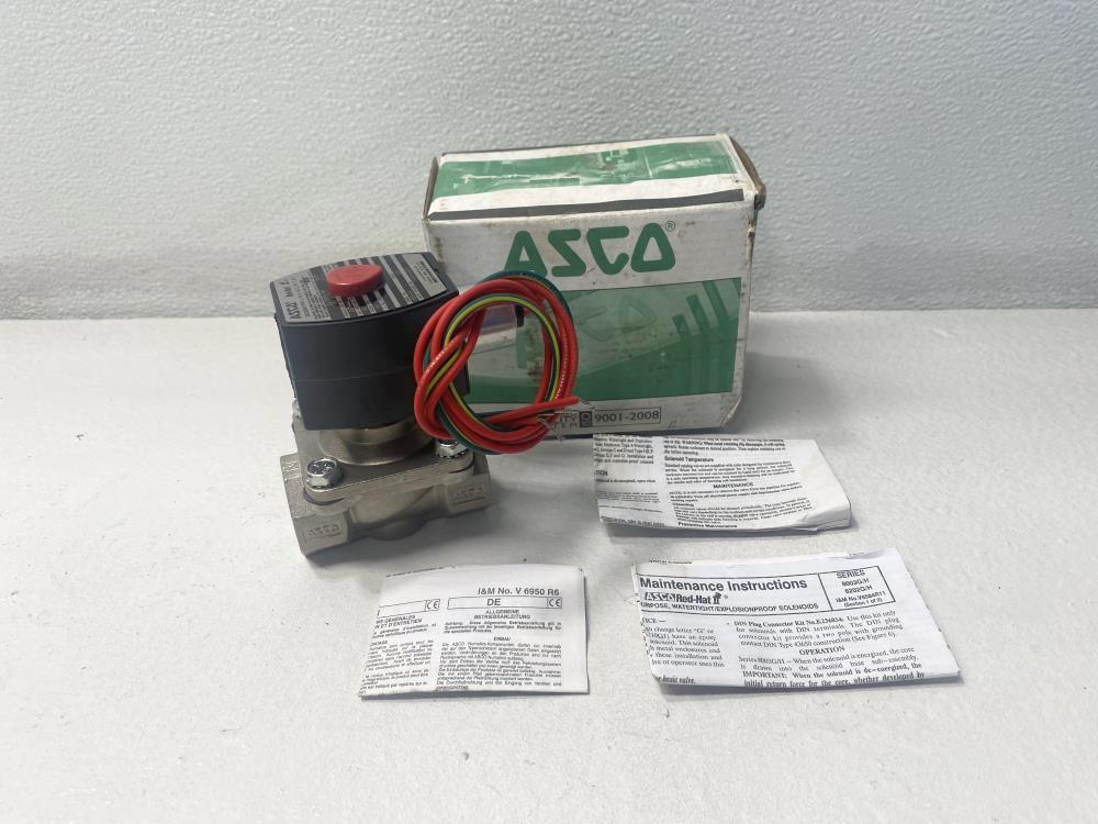 """ASCO 1/2"""" NPT 2-Way 120V/60Hz Solenoid Valve EF8210G087E, EF8003G2"""