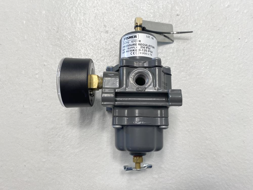 Fisher 67CFR Pressure Regulator, 250 PSI, 67CF-1663-38550