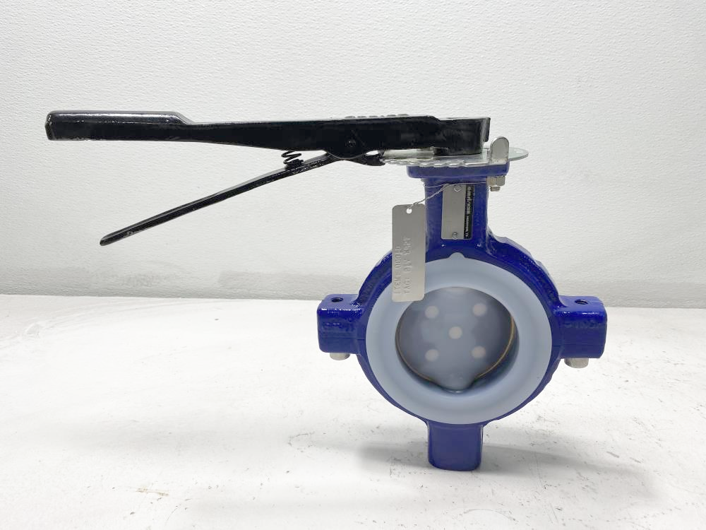"""Amri KSB 4"""" 150# Ductile Iron PFA Lined Wafer Butterfly Valve IW-31KF/S9"""