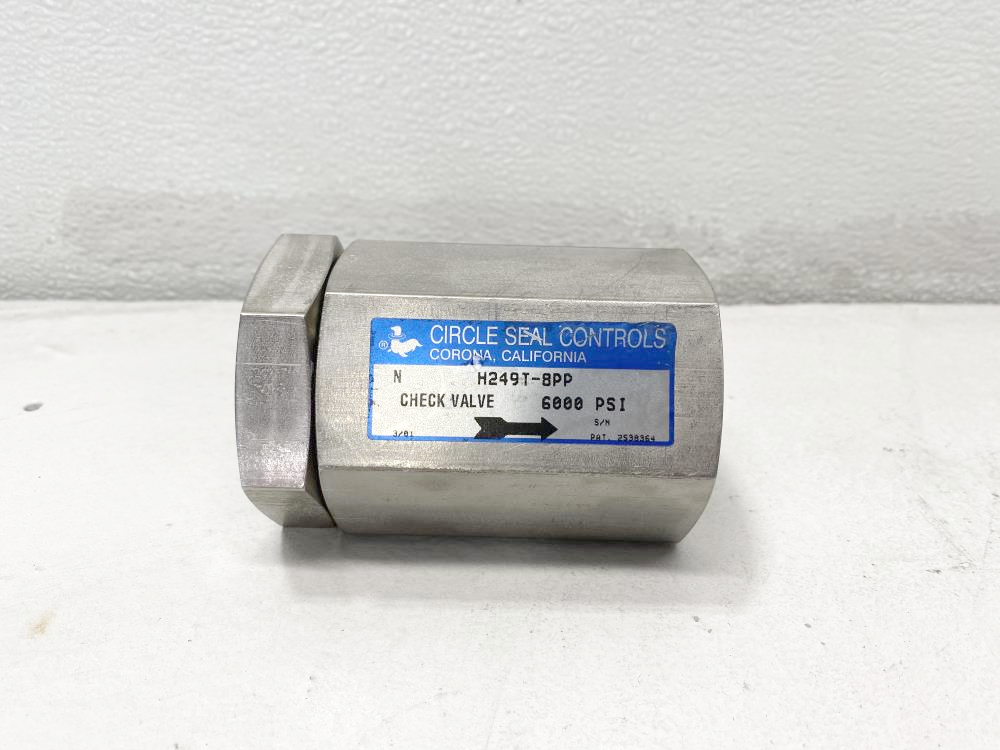 """Circle Seal Controls 1"""" NPT Stainless Steel Check Valve, 6000 PSI, H249T-8PP"""