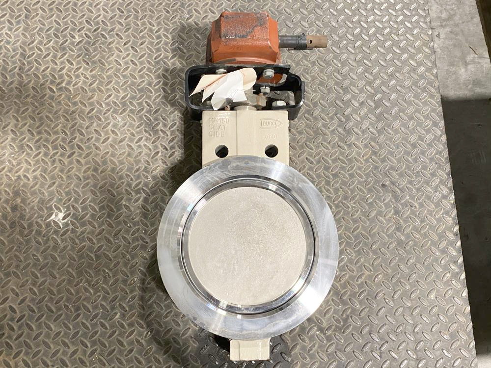 "Flowserve Durco 10"" 150# WCB Monel Wafer Butterfly Valve BX2 w/ Gear Operator"