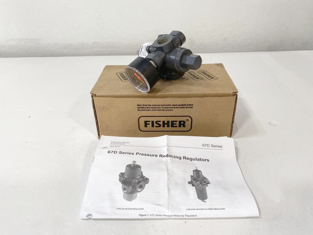 Lot of (2) Fisher 400 PSI Pressure Regulators 67DR