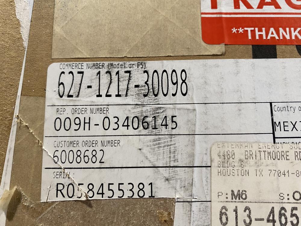 "Fisher 2"" NPT Pressure Reducing Regulator 15-40 PSI, 627-1217-30098"