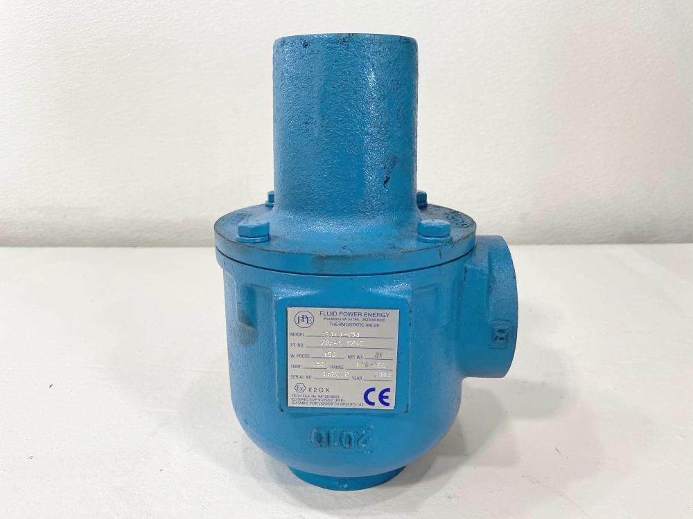 "Fluid Power Energy FPE 2"" NPT 3-Way Steel Thermostatic Valve A2010-150"