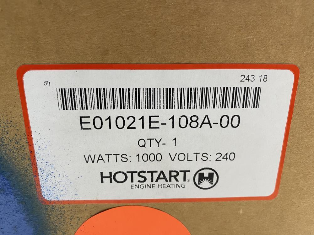 "Hotstart 2"" Screw Plug Immersion Heater E01021E-108A-00"