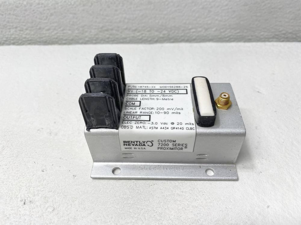 Bently Nevada Custom 7200 series Proximitor 156288-25, 18745-XX