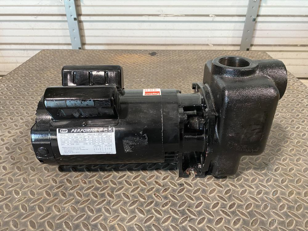 "Dayton 2"" NPT Cast Iron Self-Priming Centrifugal Pump 4UA76 w/ 2HP Motor"