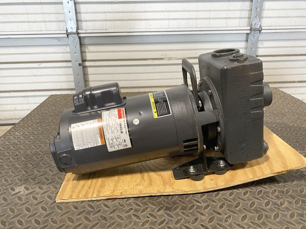 "Teel 1-1/2"" NPT Cast Iron Self-Priming Centrifugal Pump 1P851 w/ 2HP Motor"