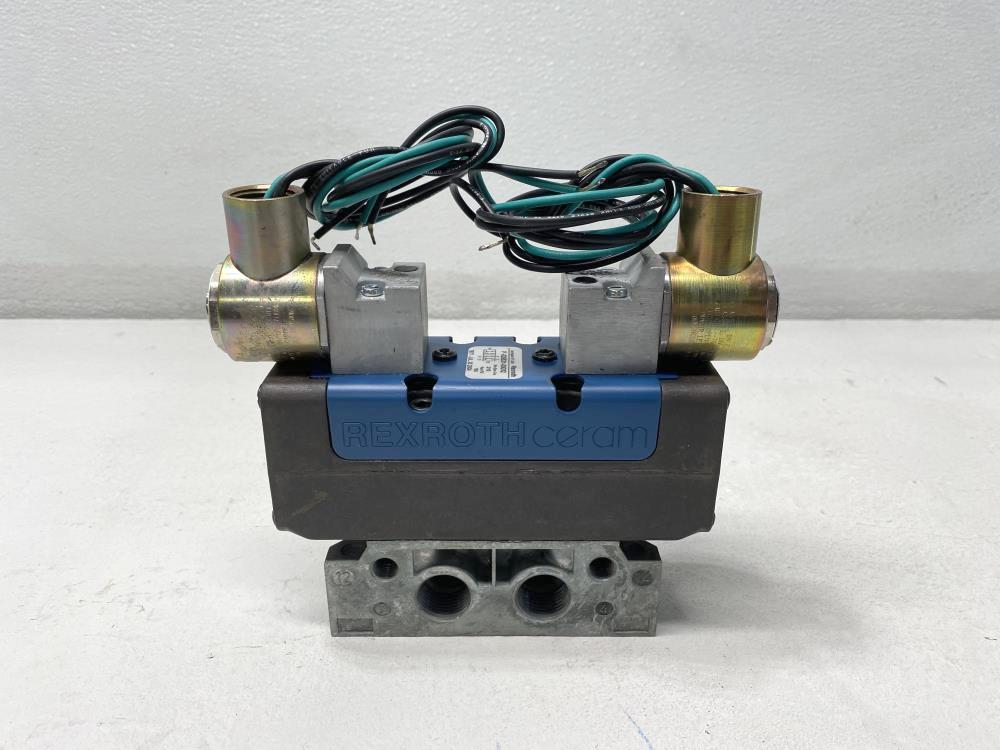 """Rexroth Ceram 1/2"""" NPT 120V Aluminum Solenoid Valve P-026531-00002"""